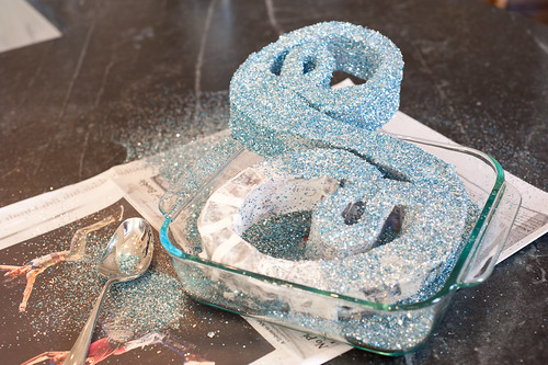 Top This: DIY Sparkly Monogram Tree Topper