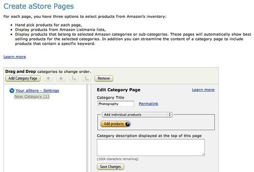 Amazon.com Associates Central - aStore: Category Pages