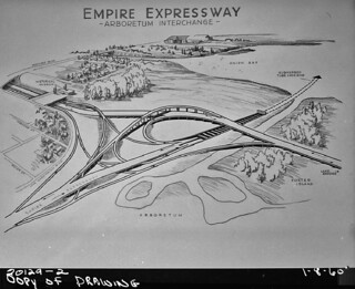 Proposed arboretum interchange on R.H. Thomson Freeway, 1960