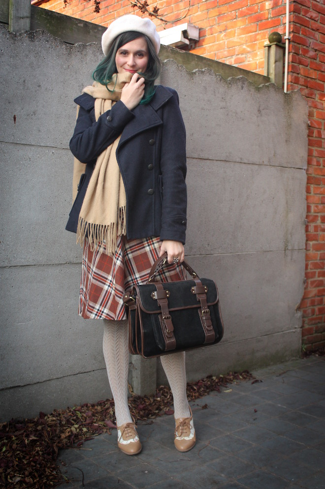 Brown Plaid Skirt - THE STYLING DUTCHMAN.