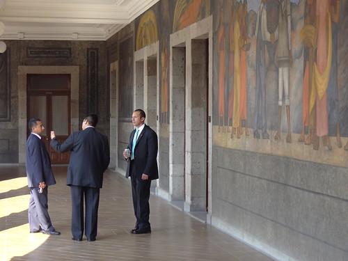 Bureaucrats with Diego Rivera Murals - Secretaria de Educacion Publica (SEP) - Centro - Mexico City - Mexico
