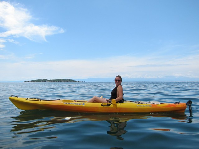 Claudia Kayaking on Lake Tanganyika