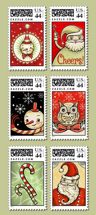 Six-Holiday-Stamps