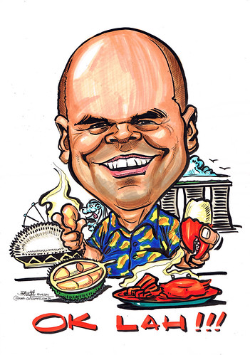 Caricature for Wartsila - durian & chili crab