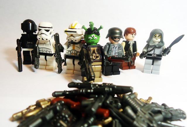 25x Custom Detailed guns for LEGO®//Brickarms  Minifigs