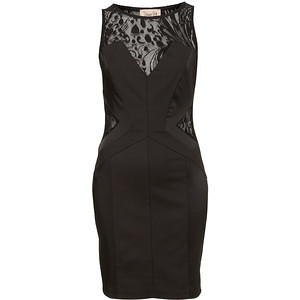 Reverse Panel Bodycon Dress By Dress Up