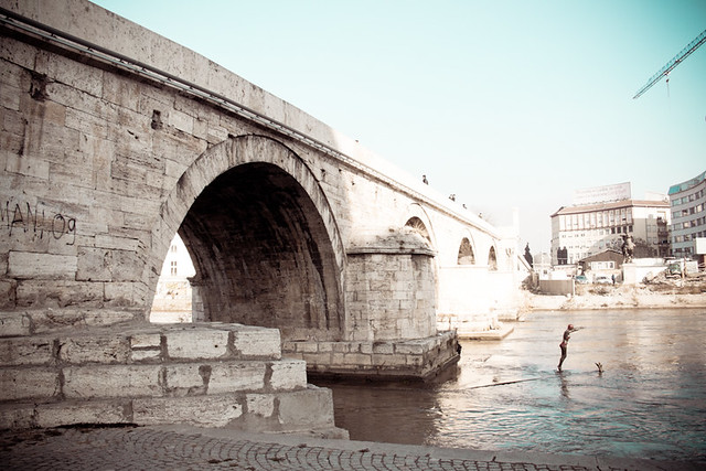 Old stone bridge skopje