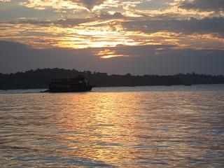 sunset in Sihanouk Ville