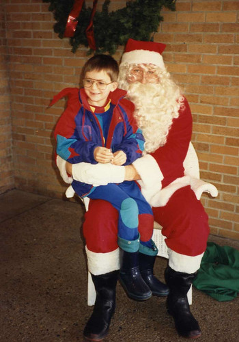 Will (6 1/2) with Santa, 1991.