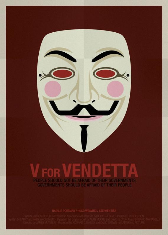 Máscaras e seus filmes , v de vingança, Guy Fawkes