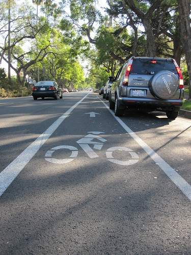 Bike Lane on newly paved Marengo in South Pasadena