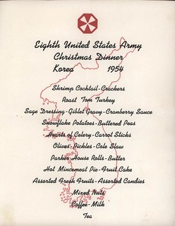 Christmas Day Menu, Eighth United States Army, Korea, 1954, Page 2 of 2