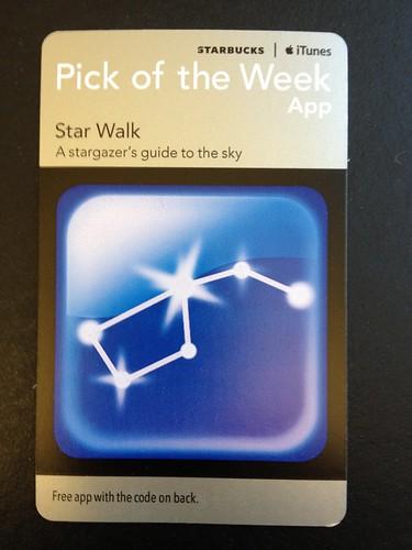 Starbucks Pick of the Week - Star Walk [app]