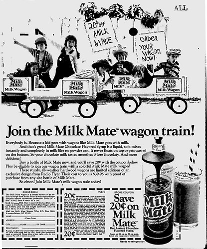 Milk Mate Newspaper Ad - 1979