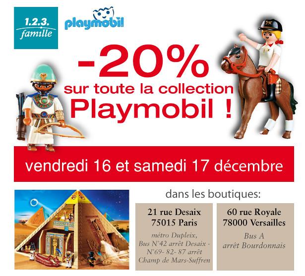 Bénéficiez de - 20 % sur la collection Playmobil dans les boutiques 1.2.3. Famille