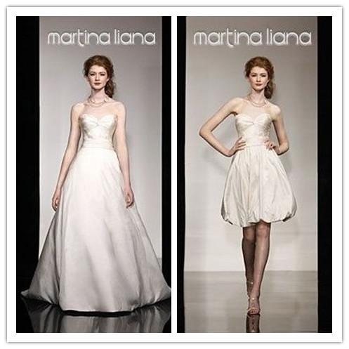 Taffeta Strapless Sweetheart Aline 2 in 1 Wedding Dress