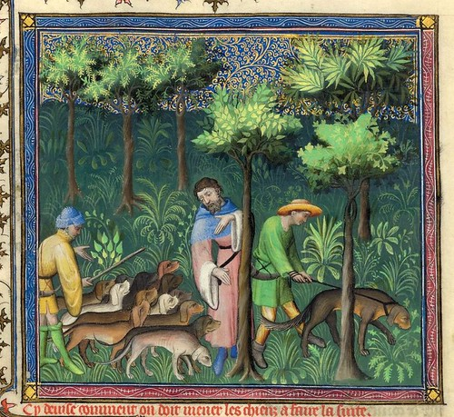 007-Le Livre de la chasse-1407- Gaston Phoebus- MS M. 1044 – fol 46v-detalle-© The Morgan Library & Museum
