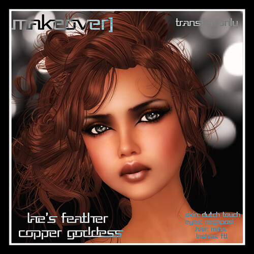 Lae's Feather Copper Goddess  Makeover [eyes/lips/liner] by Mocksoup