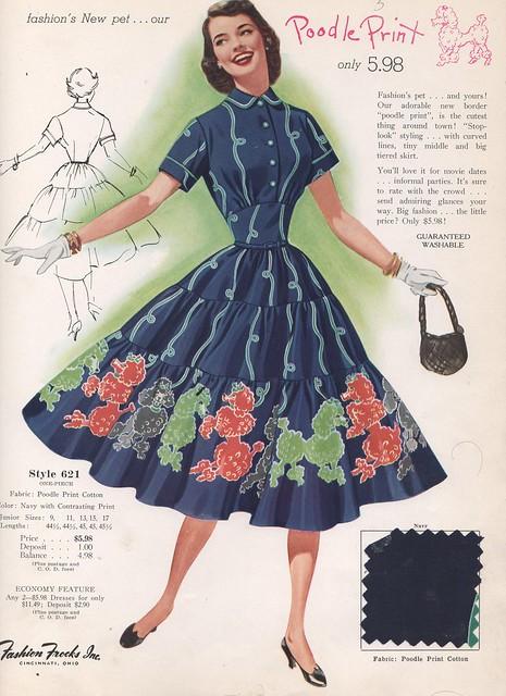 Fashion Frocks Style Card 1955