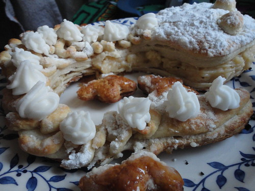 Iguana de crema de pastelera 1