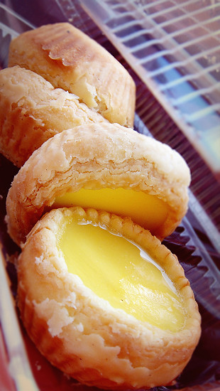 Trisha Egg Tart (三轮车蛋挞) at Padang Brown Food Court, corner of Perak Road and Anson Road.