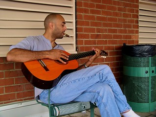 The Man With the Cigar Plays Guitar