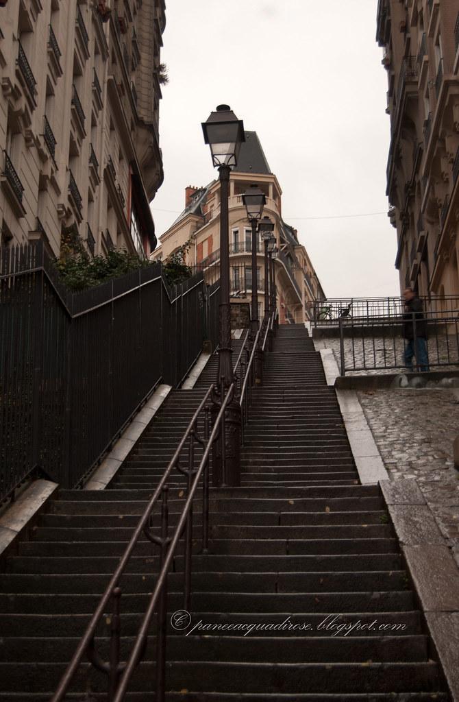Scalinata verso Montmartre