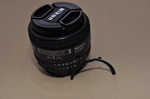 50mm f1.4 D with 'spare' part
