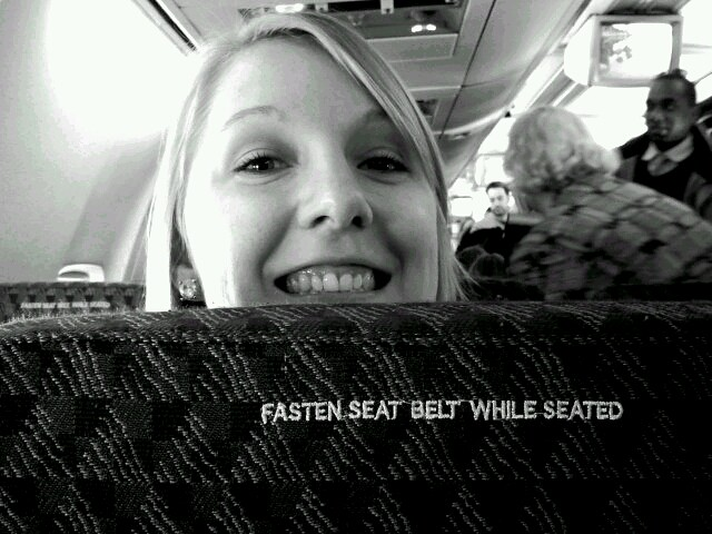 Giddy-up, Katie. I know she wont recline for this flight