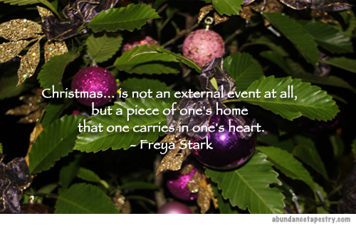 Christmas Quote: Christmas is not an External Event