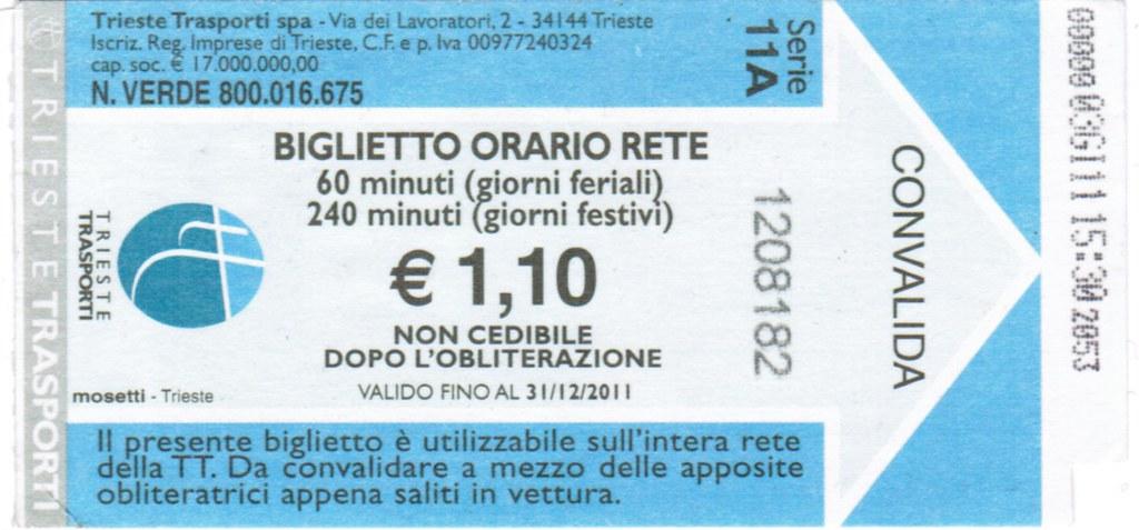 Ticket Tranvia Opicina