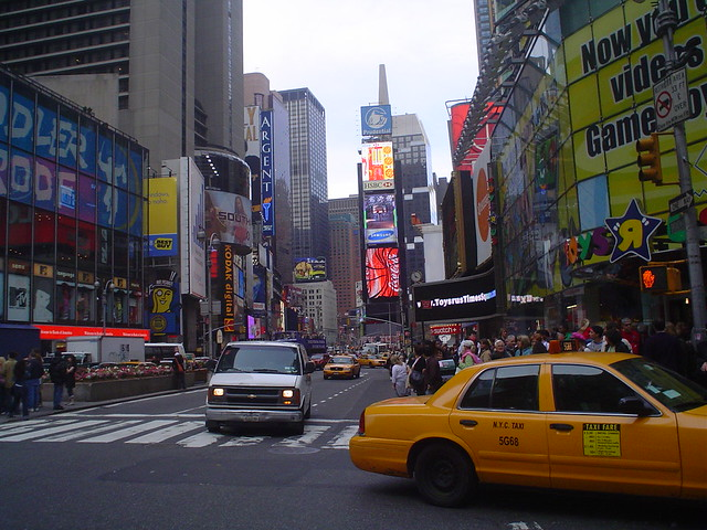 times square district in new york city usa