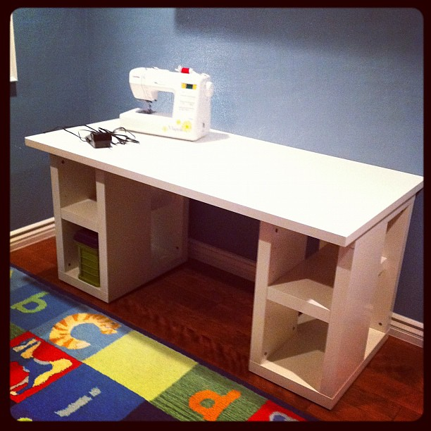 Project 365 360/365: A new desk from IKEA to use as a sewing table for the new sewer aka me.