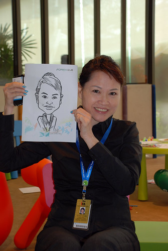 caricature live sketching for Foresque Residences Roadshow - Day 2 - 8