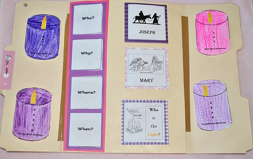 Advent Lapbook FREE Printable - Advent Activities for Kids {Weekend Links} from HowToHomeschoolMyChild.com