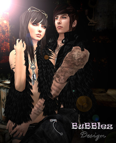 BB - Bubblez Fur Vest (unisex), 12 lindens by Cherokeeh Asteria