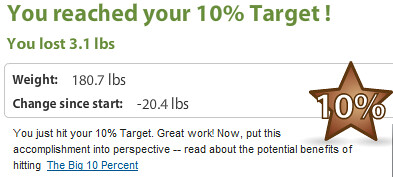 10% Target Goal at Weight Watchers