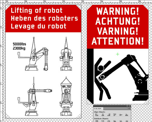 Warning! Achtung! Varning! Attention!