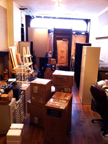 Packing up the boutique - April 2011