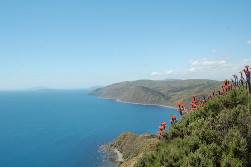 Makara looking towards Mana and Kapiti Islands