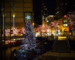 John Hancock Christmas Tree at night by doug.siefken