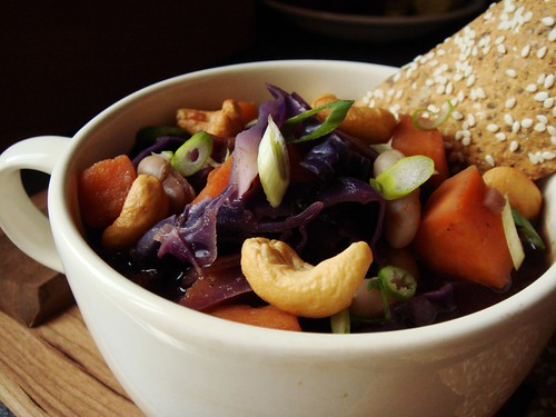 Indian-Spiced Cabbage Sweet Potato Soup