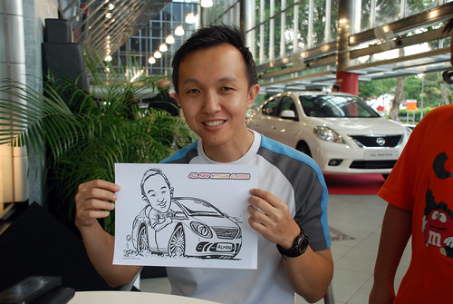 Caricature live sketching for Tan Chong Nissan Almera Soft Launch - Day 1 - 47