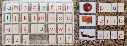 Movable Alphabet (Photo from Montessori Print Shop)