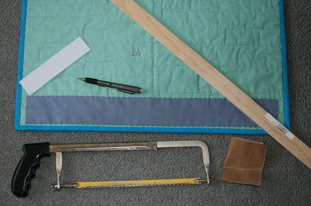 How to Hang a Quilt Tutorial, step 1
