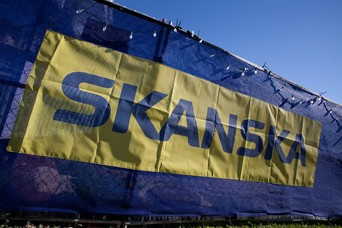 Skanska Construction Sign