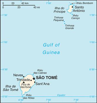 carte Sao Tomé-et-Principe