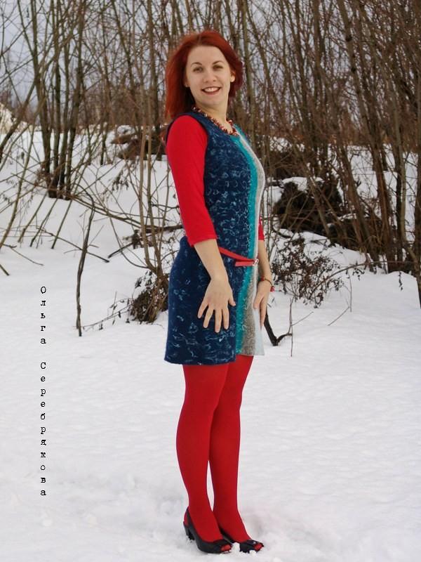 Валяное платье, felted dress 2