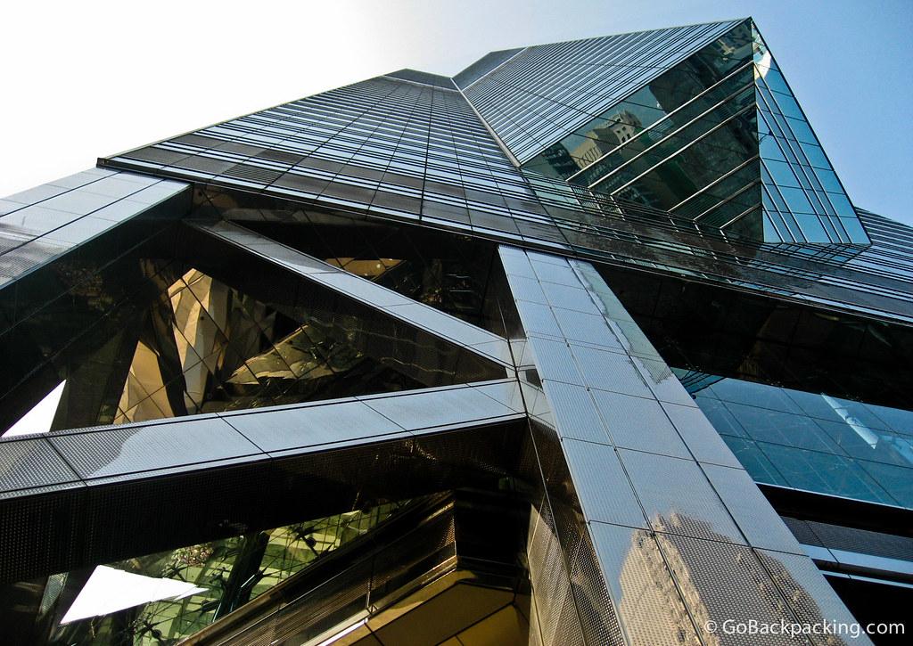 Modern building on Hong Kong Island