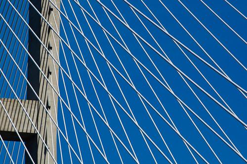 bridge blue sky white cables jekyllislandga sydneylanier bridgebrunswick